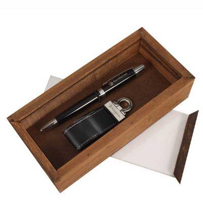 Kit Escritório com caneta, Pen Drive e caixa - Eco Design