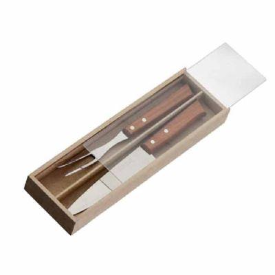 Eco Design - Kit Churrasco com faca, garfo e caixa