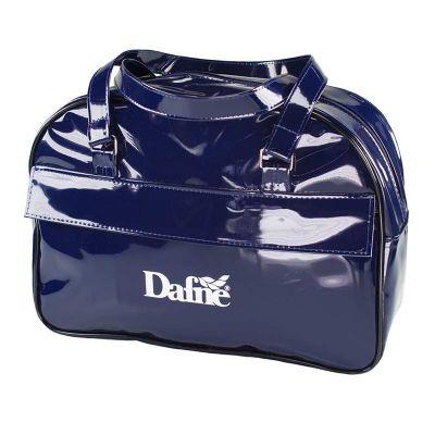 - Bolsa em verniz com bolso frontal.