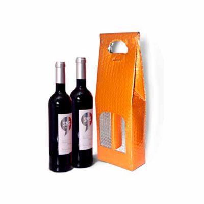 Fabrica do Tapasol - Bolsa Metalizada para 2 Garrafas de Vinho