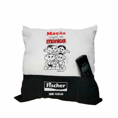 canal-promocional - Almofada com bolsos personalizada