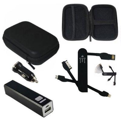 Kit tecnologia com diversos acessórios para celular - Amoriello Brindes Promocionais