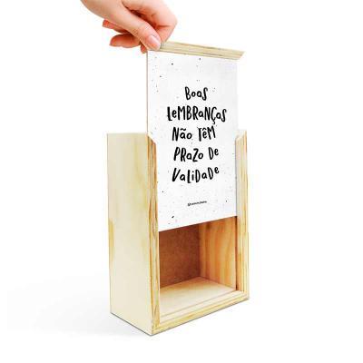 Caixa Filosofal - Caixa de madeira feita em compensado com lindo acabamento. Tamanho interno 11x16x6cm (Fazemos com a sua medida também) Tampa com arte personalizada em...