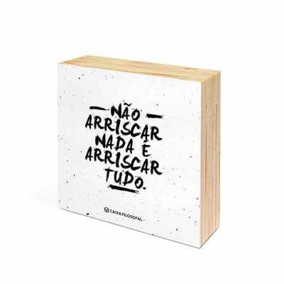 caixa-filosofal - Quadrinho Wood Square