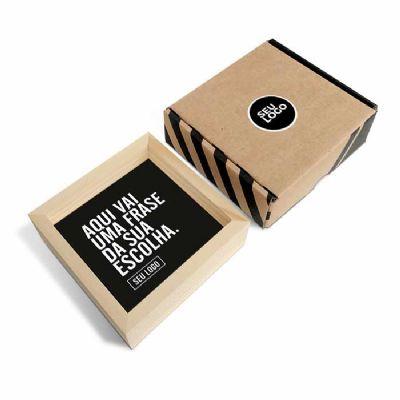 caixa-filosofal - Quadro Dupla Face 12 x 12 x 4cm   O quadrinho vai pronto e com embalagem para presentear, você não tem com o que se preocupar!  Ideal para eventos e a...
