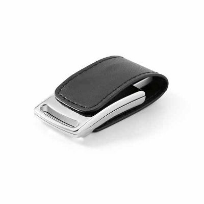 WP Brindes Personalizados - Pen drive. Couro sintético. Capacidade: 8GB. Medidas: 58 x 27 x 12 mm