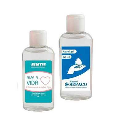 Álcool gel promocional personalizado - Star Promocionais