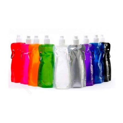star-promocionais - Squeeze dobrável personalizado em silk