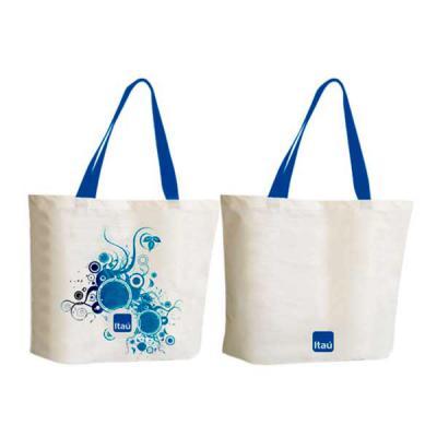 super-bag-artigos-promocioanais - Sacola Ecológica  em lona média 100% de algodão cor crua. Dimensões Aproximadas: 42x37x9 cm (L x A x Base) Impressão em serigrafia