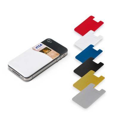 CCM Mercobrindes - Porta cartões para Celular em PVC com autocolante. Tamanho total do produto: 56 x 89 x 1 mm.