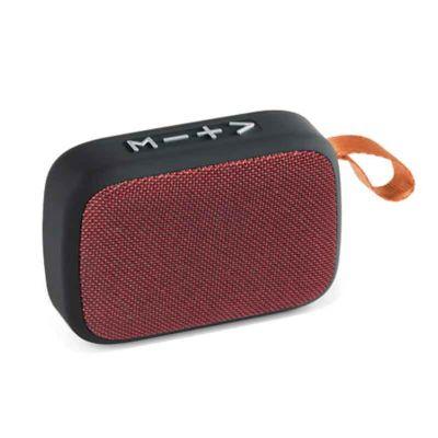 - Caixa de som com microfone em ABS e tecido em Poliéster com acabamento emborrachado. Transmissão por bluetooth, ligação stereo 3,5 mm e leitor de cart...