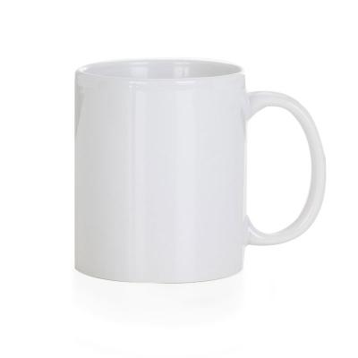 Smart Promocional - Caneca cerâmica de 300ml branca, ideal para sublimação.  9,7 cm x 11,5 cm