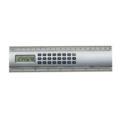 smart-promocional - Régua calculadora plástica 20cm. Calculadora de 8 dígitos com base prata, possui as medidas cm e polegada nas laterais plásticas transparentes.   5,2...