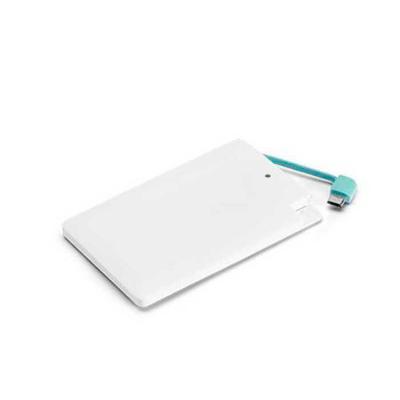 Smart Promocional - Bateria portátil super slim.  Bateria de lítio. Capacidade: 2.000 mAh. Tempo de vida ≥ 500 ciclos.  Com entrada/saída 5V/1A.  Incluso cabo USB/m...