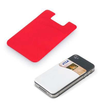 Smart Promocional - Porta cartões para smartphone. PVC com autocolante. 56 x 86 x 3 mm
