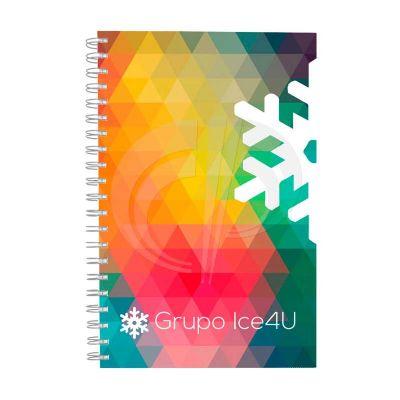 Color Plus Brindes - Caderno Company (20,8cm x 28 cm), capa com impressão offset colorida. Miolo com 200 páginas (100 folhas), folhas pautadas, impressão 01 cor, papel off...
