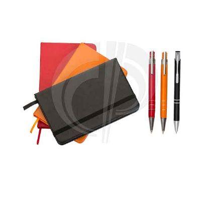 color-plus-brindes - Kit - Bloco de Anotações / Caneta