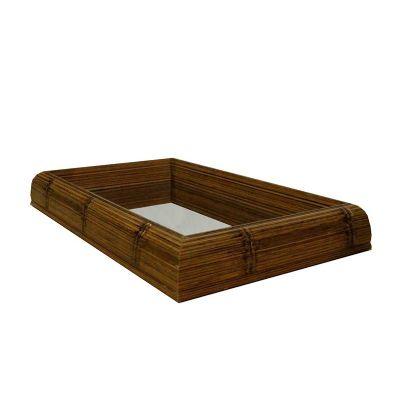 Decorex - Bandeja moldura Bambu com Espelho