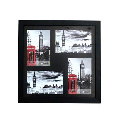 Decorex - Painel, Porta Retrato Para 4 Fotos 10x15 Preto - Classic