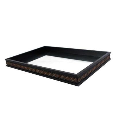 Decorex - Bandeja Decorativa Com Espelho (30x45cm) Moldura Trançada - 9040 - Personalizável   Material: Moldura Pinus Modelo: Trançada  Tamanho: 4 x 30 x 45 cm...