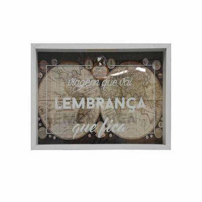 Decorex - Quadro Decorativo, Cofre, Porta Lembranças, Viagem (32x42) Personalizável