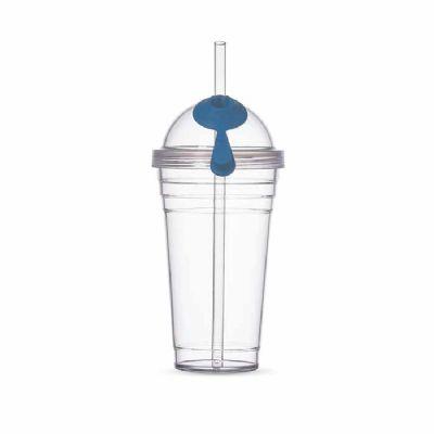 blimp-brindes - Copo Plástico 480ml com Canudo