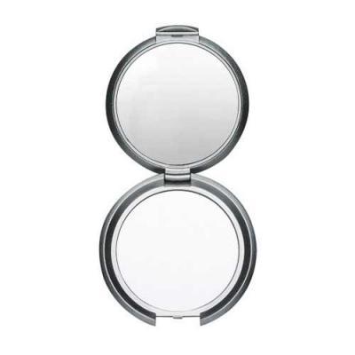 Blimp Brindes - Espelho redondo duplo sem aumento, material em plástico resistente com superfície ondulada(área para gravação não é plana).