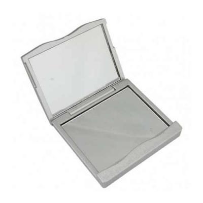blimp-brindes - Espelho retangular duplo sem aumento, material em plástico resistente com superfície ondulada(área para gravação não é plana).