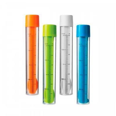 Kit de coquetel. Dosador/agitador com escala de medição em ml e fl oz. Capacidade: 60 ml. Incluso 2 mexedores, 1 pinça para gelo e 1 colher/garfo 2 em... - Blimp Brindes