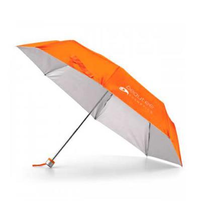 Guarda-chuva dobrável. Poliéster 190T. Dobrável em 3 seções e fornecido em bolsa.