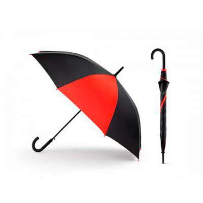 blimp-brindes - Guarda chuva. Poliéster 190T. Pega revestida a borracha. Abertura automática.