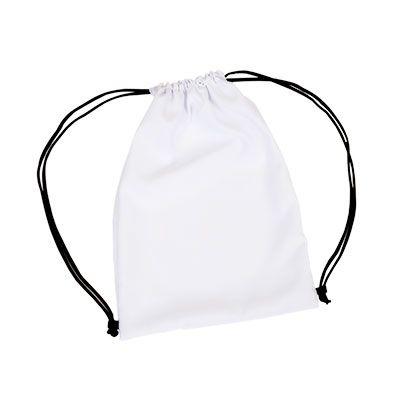 - Mochila saco de microfibra com alças reguláveis.