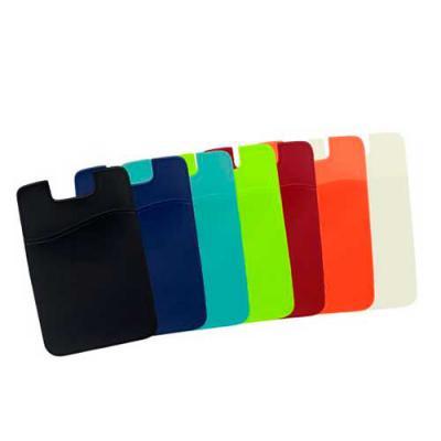 Blimp Brindes - Adesivo porta cartão para celular, basta remover o selo traseiro e colar a parte adesivada no celular. Material emborrachado leitoso.