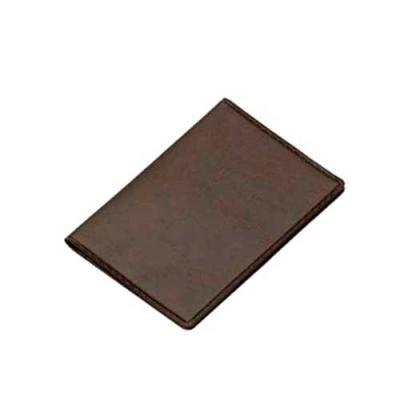 Carteira porta documento em couro sintético de frente e verso liso, parte interna com bolso plást...