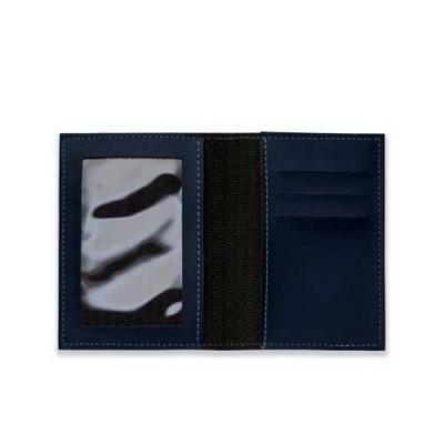 blimp-brindes - Porta documento Bidins em couro sintético, capa frente e verso lisa, parte interna com bolso de visor plástico e três divisórias no próprio couro com...