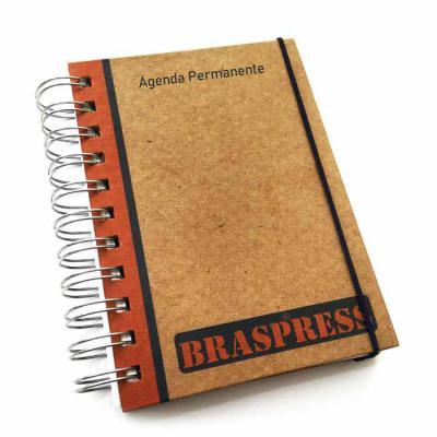 CRIE BRINDES - Agenda Compacta Permanente Kraft - 1 dia por página PROMOÇÃO DE LANÇAMENTO: De: R$ 10,90 Por: R$ 9,90 a unidade Capa Dura com personalização impressa...