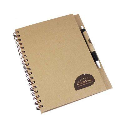 crie-brindes-eco-e-servicos-graficos - Caderno com caneta Kraft