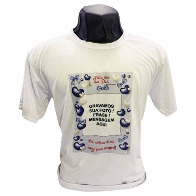 Camiseta P, M e G 100% poliéster, branca, gola careca de excelente qualidade! Tecido: Poliéster P...