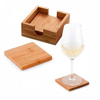 Pesquisa Brindes - Conjunto em bambu para copos