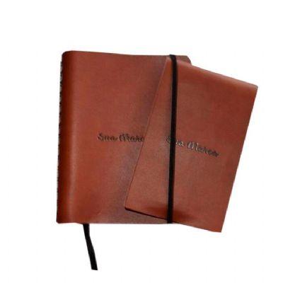 Punch Master - Kit agenda + Bloco em couro ecológico