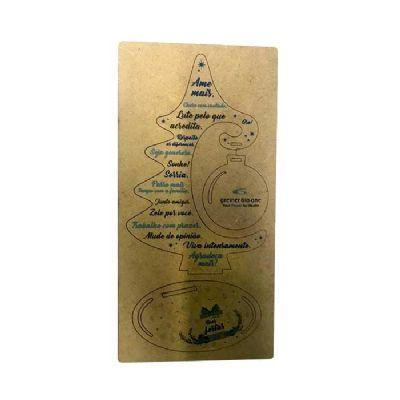 Punch Master - Cartão árvore de natal MDF