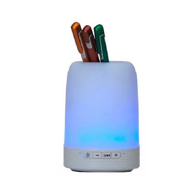 Chilli Brindes - Porta Canetas Bluetooth Caixa de Som Luminária