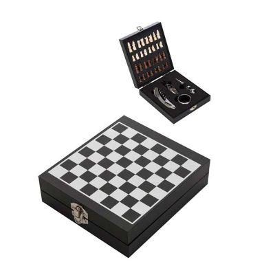 Chilli Brindes - Kit Vinho Jogo de Xadrez