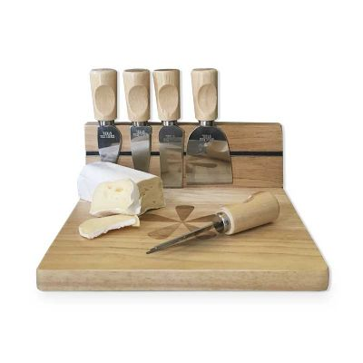 Inove Brindes - Kit queijo bambu 6 peças