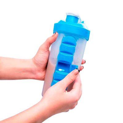 QAP Brindes Personalizados - Coqueteleira com Porta Comprimido