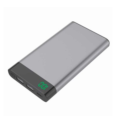 QAP Brindes Personalizados - Power Bank Metal com Visor Digital