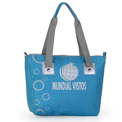 Jumas Produtos Promocionais - Bolsa em nylon, alça dupla e rebites para reforço das alças. 32larg x 25alt x 12