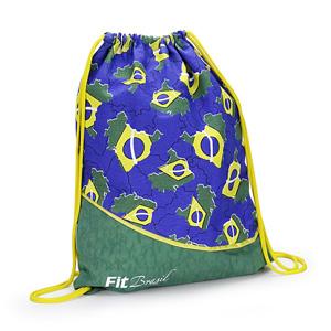 jumas - Mochila saco em nylon amassado com cordão duplo de ombro.