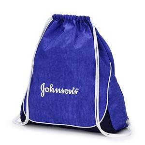 jumas - Mochila saco em nylon amassado e fundo em nylon 600 com ilhós e cordão duplo de ombro.