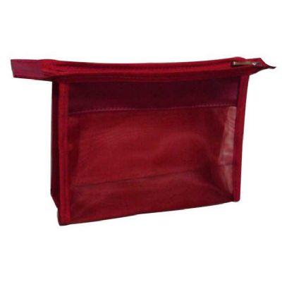 Jumas Produtos Promocionais - Necessaire em tela e nylon com zíper no fechamento.